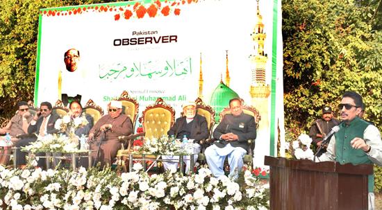 Pakistan Observer hosts reception for Key Holder of Roza-e-Rasool (SAW)