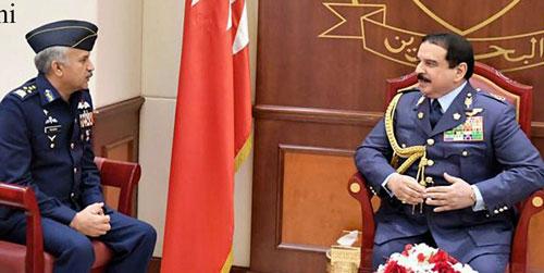 Air Chief calls on  King of Bahrain