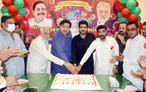PML-F workers celebrate Sadruddin Shah's birthday