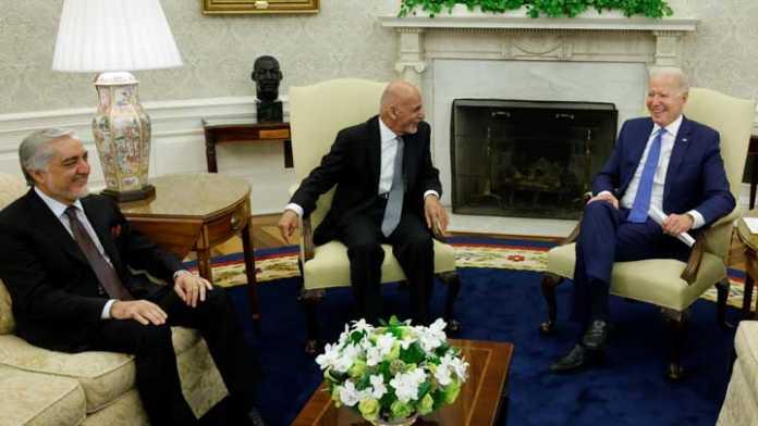 Biden urges Afghans to decide their future