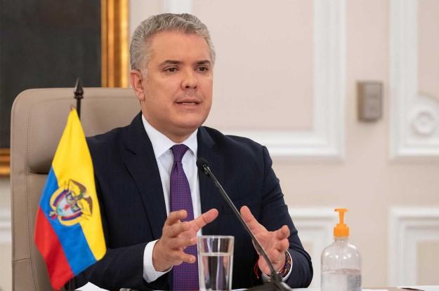 Colombia President Iván Duque's chopper hit by gunfire