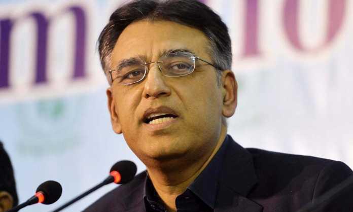 Asad Umar says people travelling overseas to get Moderna