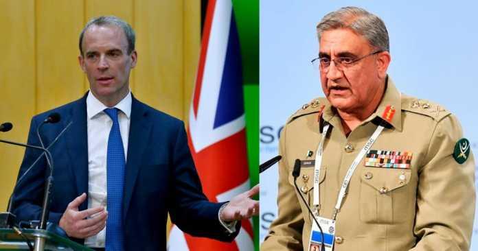 COAS, UK Secretary discuss Afghan situation: ISPR